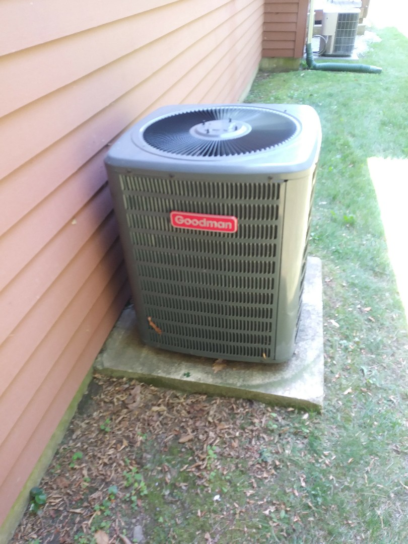 Auburn, MA - Performing clean and check on Goodman air conditioning system