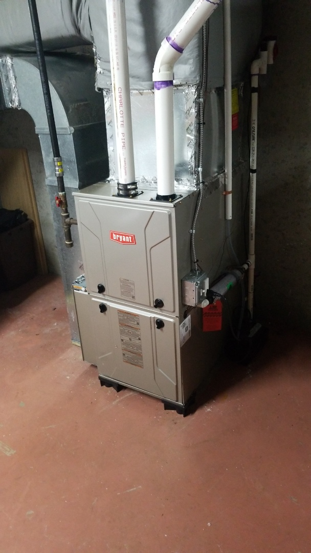 Leicester, MA - Installation of bryant modulating gas furnace