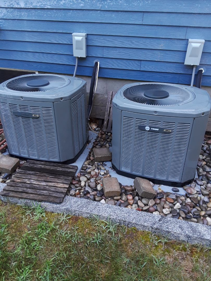Grafton, MA - Ckean and check Trane AC units