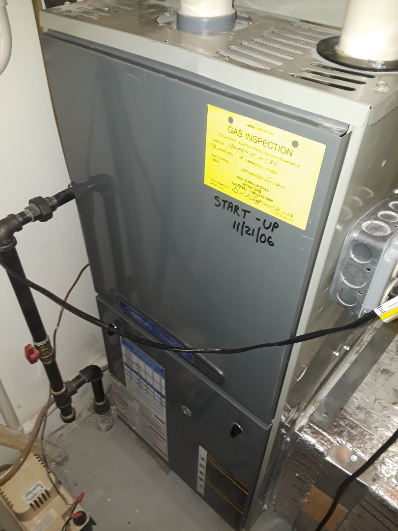 Holden, MA - Clean and Check American Standard Gas heating unit
