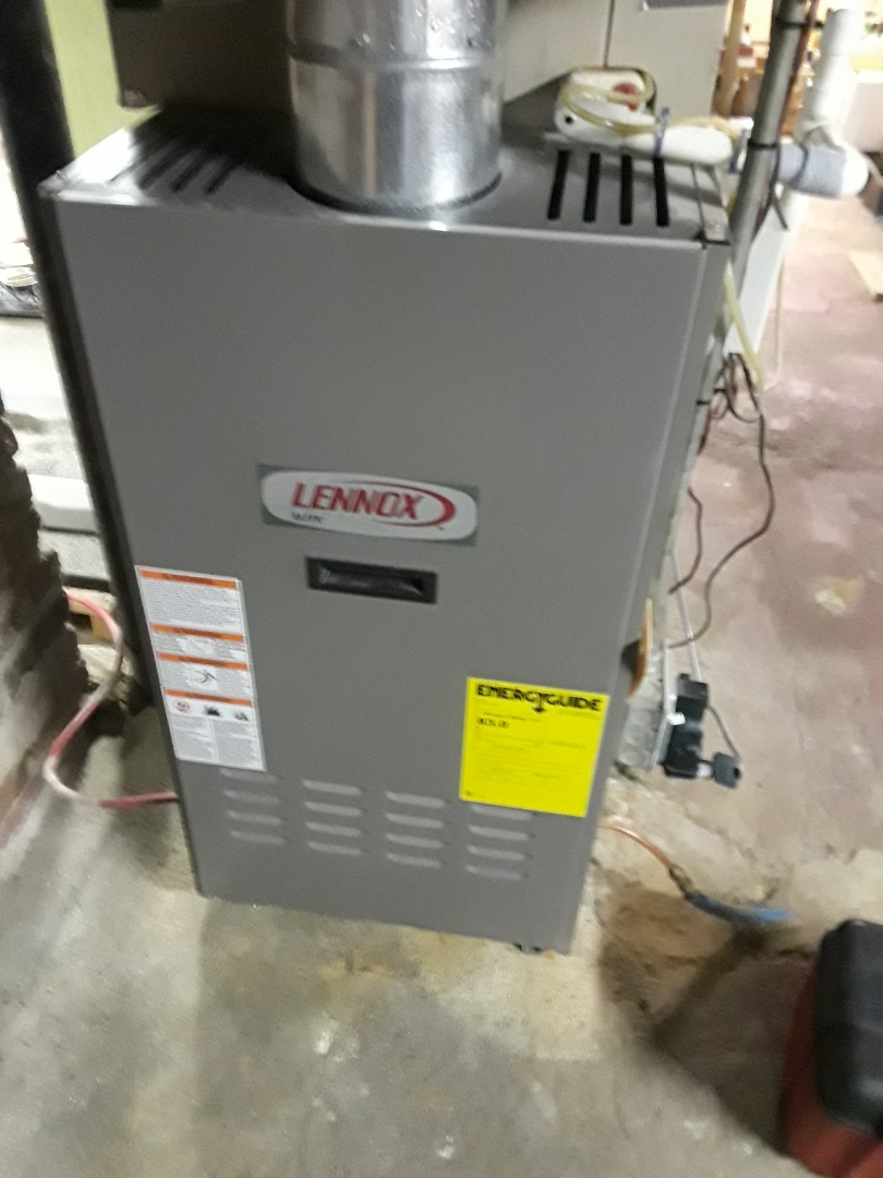 Northborough, MA - Clean and check Lennox oil fire furnace and AC