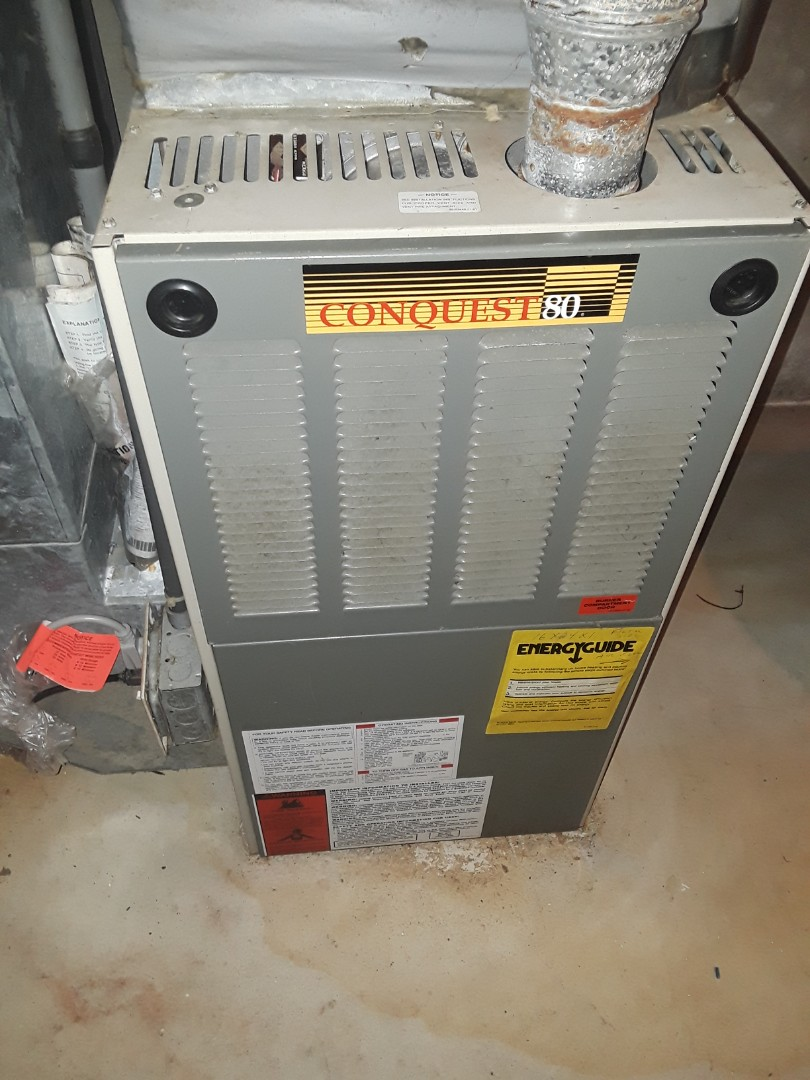 Shrewsbury, MA - Clean and check Conquest 80 gas furnace