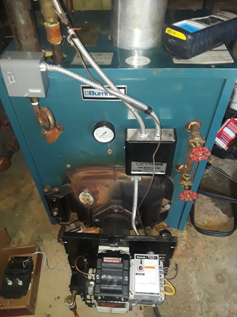Leominster, MA - Clean and check Burnham oil boiler