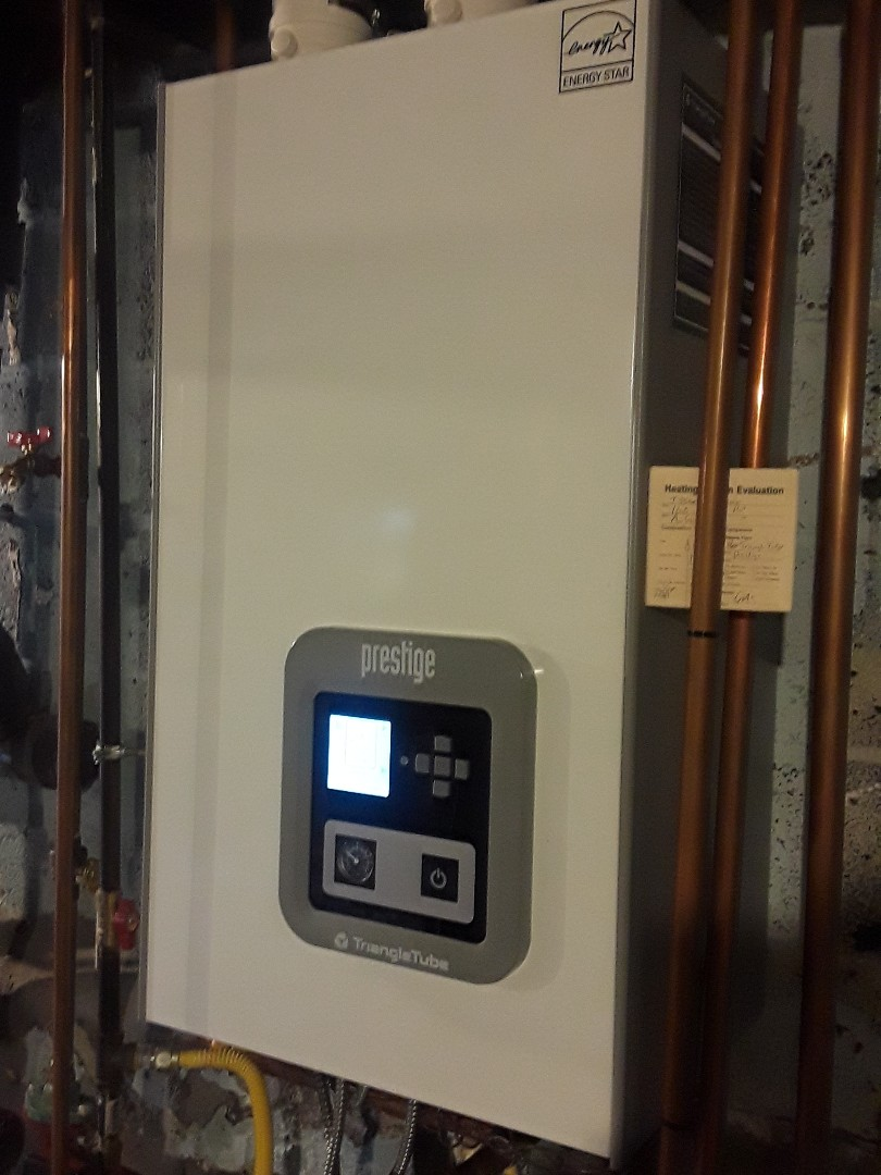 Auburn, MA - Clean and check Triangle Tube gas boiler