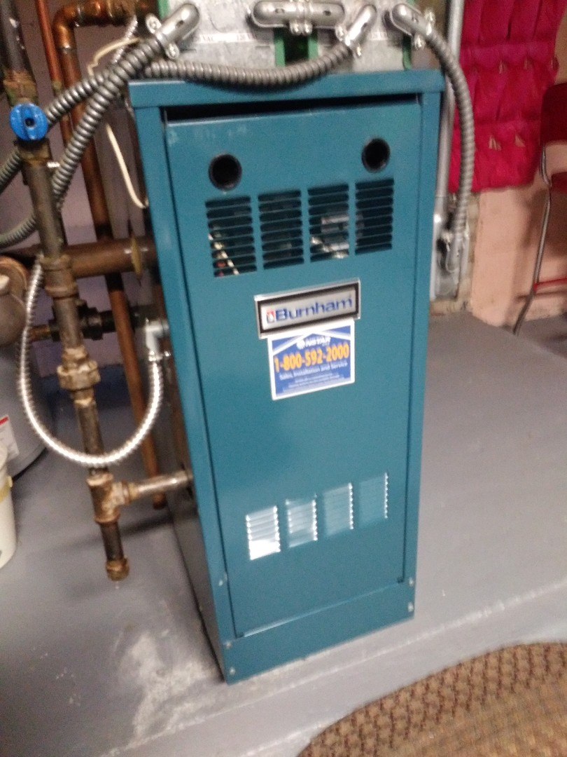 Worcester, MA - Performing clean and check on burnham hot water boiler