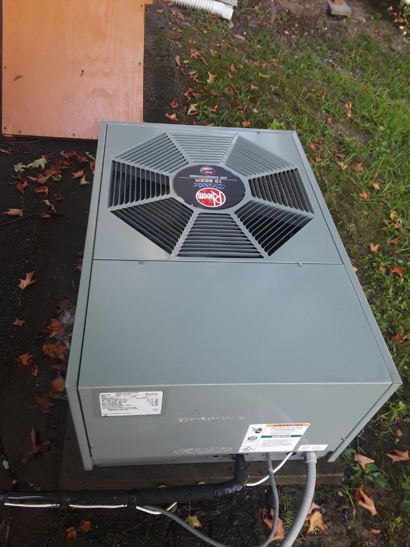 Leominster, MA - Clean and check Rheem AC unit
