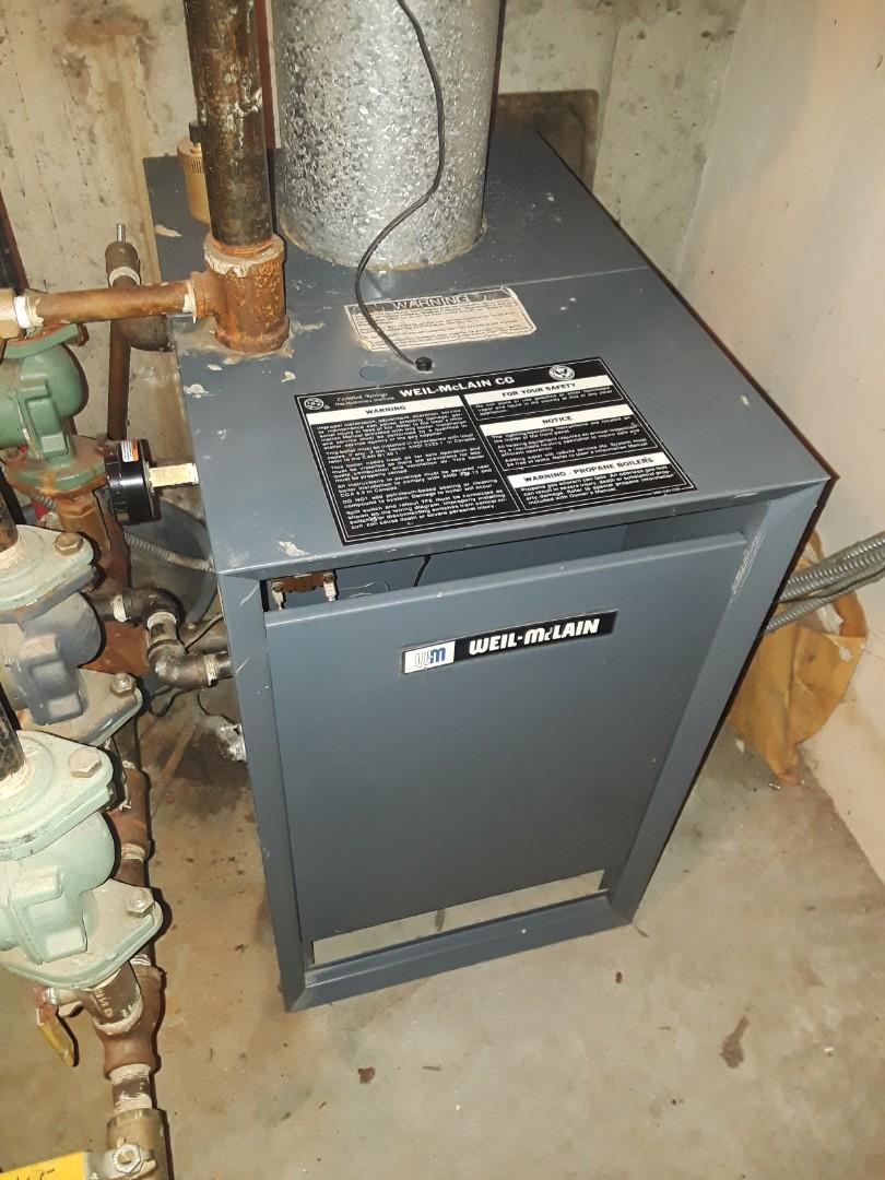 Shrewsbury, MA - Clean and check Weil Mclain gas boiler