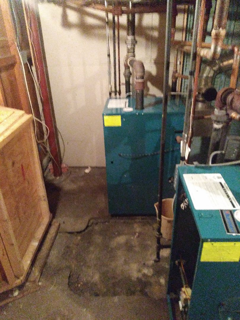 Worcester, MA - Performing clean and check on  burnham boilers