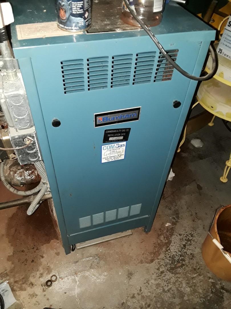 Worcester, MA - Repair on a Burnham gas steam boiler