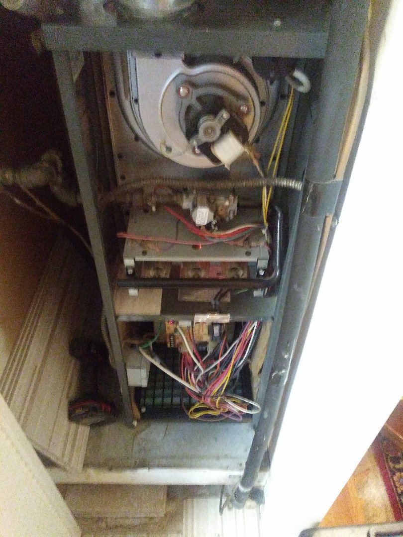 Boylston, MA - Performing clean and check on amana furnace