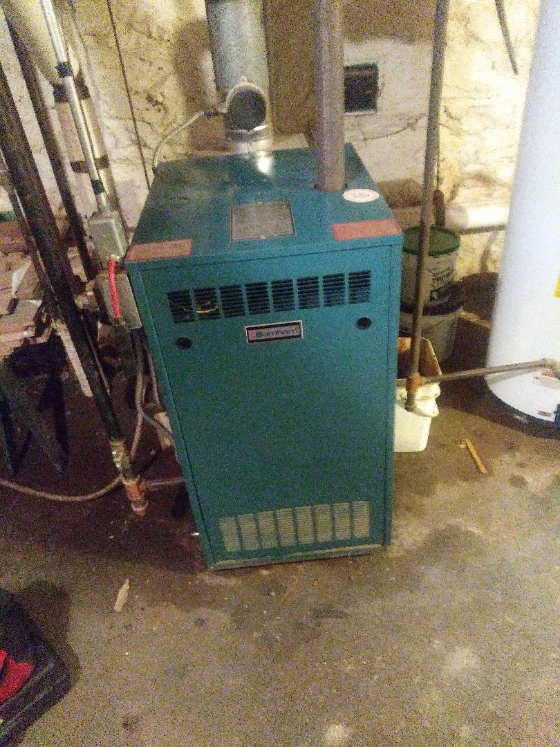 Auburn, MA - Performing clean and check on burnham boiler