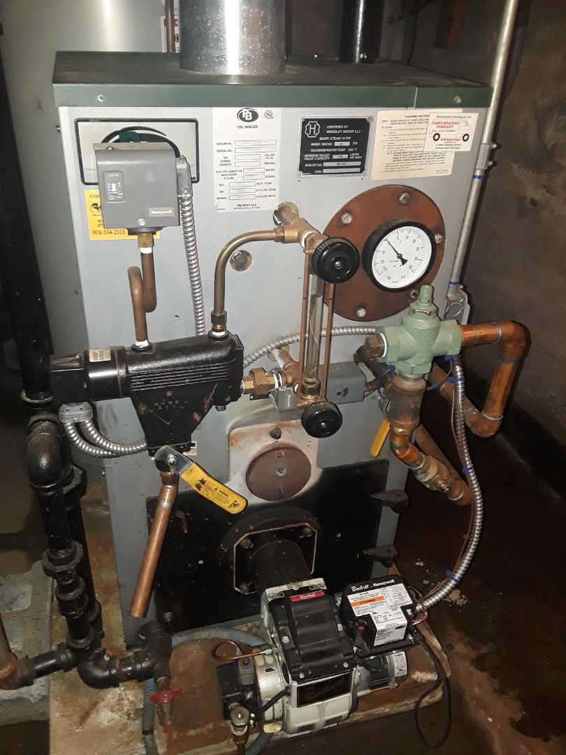 Fitchburg, MA - Clean and check Peerless oil steam boiler