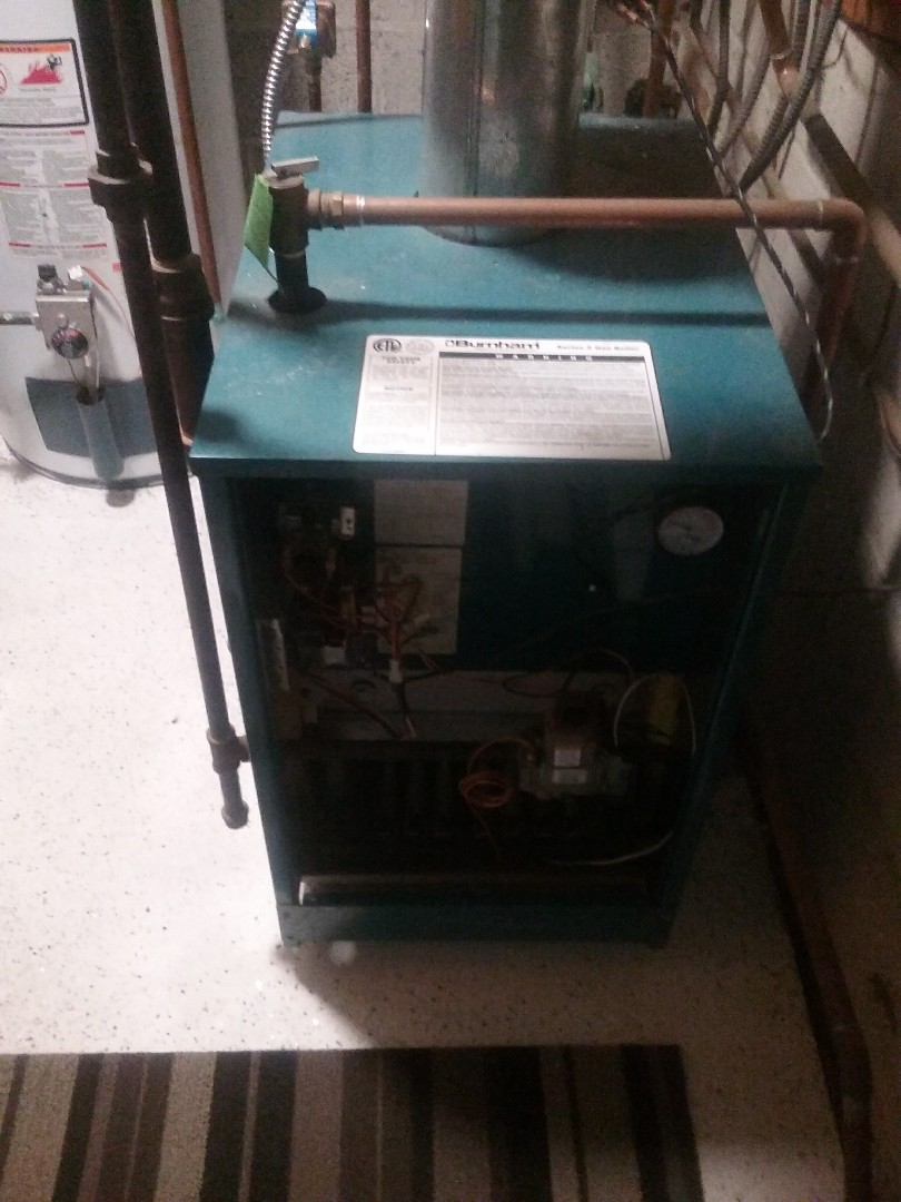 Shrewsbury, MA - Service on a Burnham gas water boiler