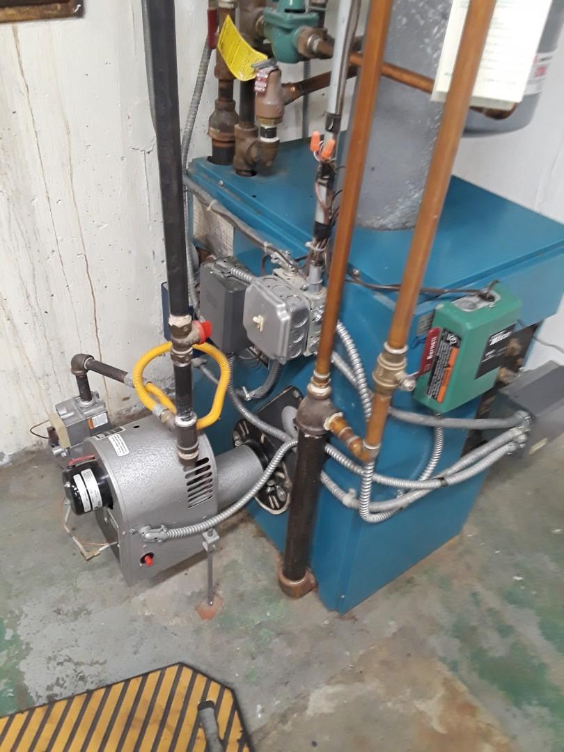 Auburn, MA - Clean and check Burnham gas conversion boiler