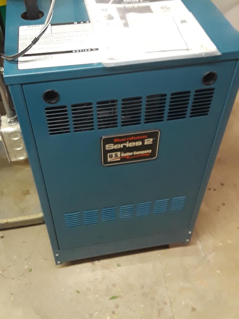 Auburn, MA - Clean and check Burnham gas boiler
