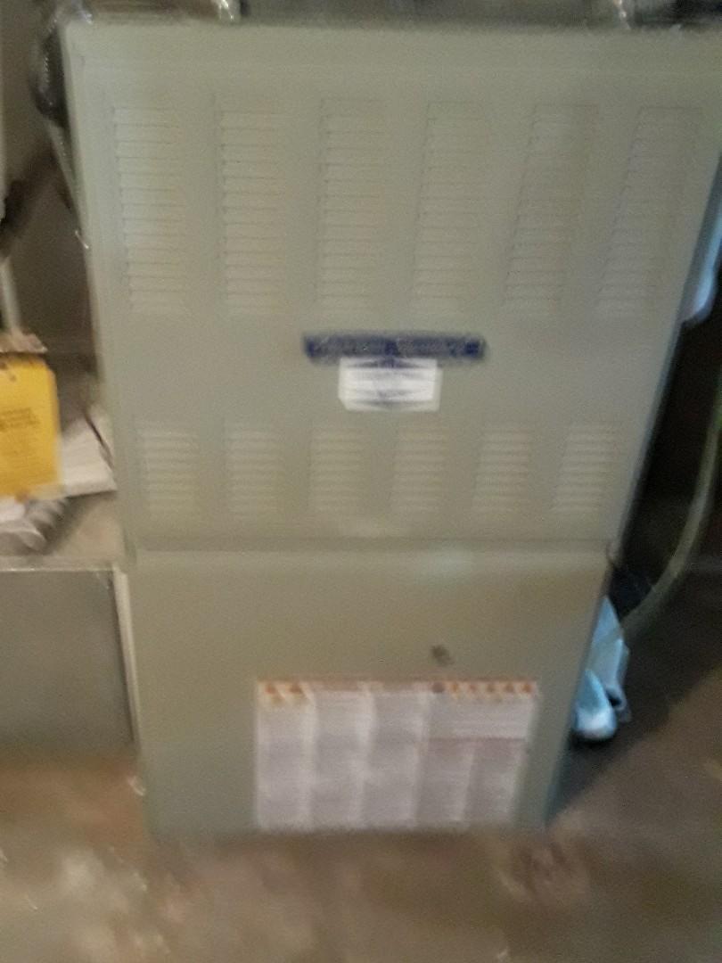Shrewsbury, MA - Clean and check American Standard gas furnace