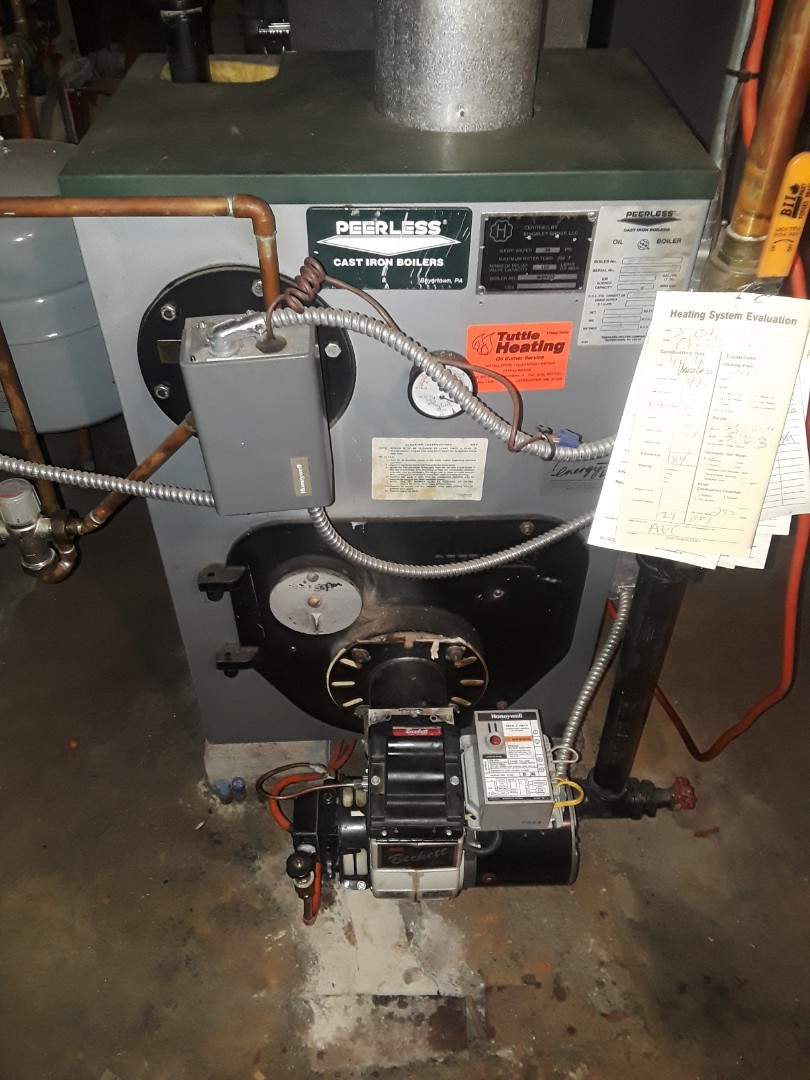 Clinton, MA - Clean and check Peerless oil boiler
