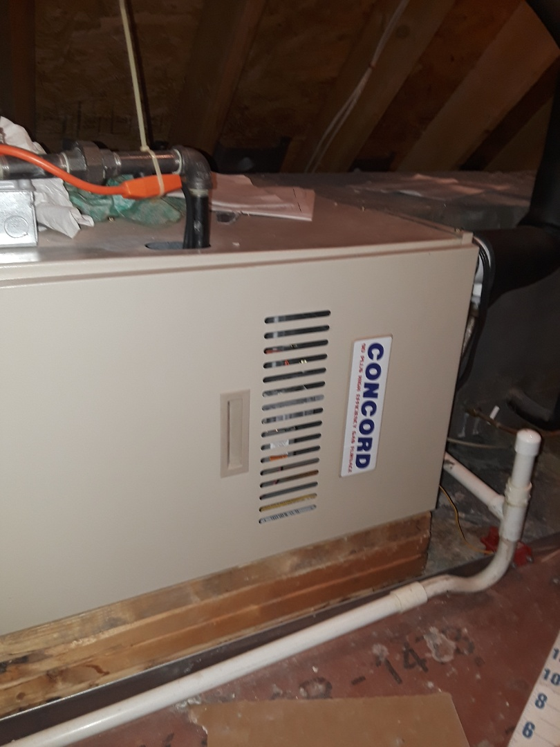 Shrewsbury, MA - Clean and check Concord gas furnace