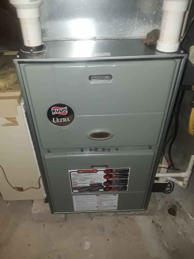 Westborough, MA - Clean and check Ruud gas furnace