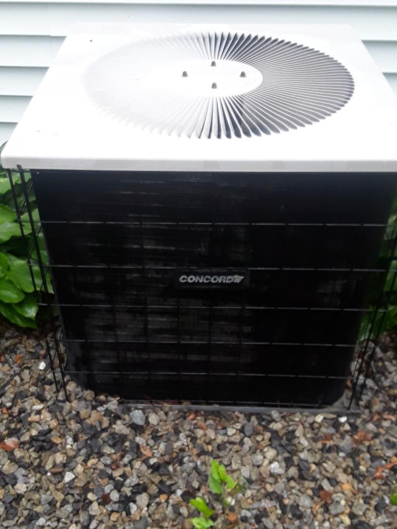 Auburn, MA - Clean and check Concord AC unit