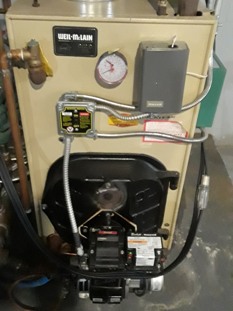 West Boylston, MA - Clean and check Weil Mclain oil boiler