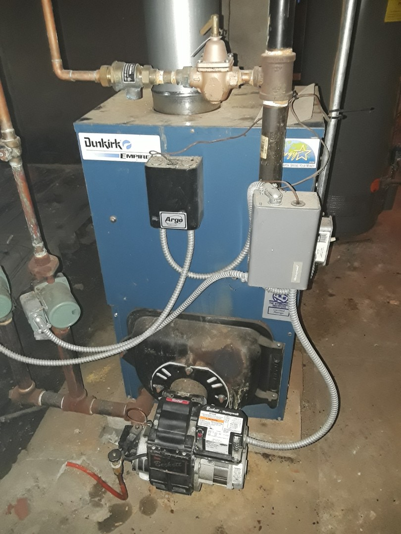 Fitchburg, MA - Clean and check Dunkirk oil boiler