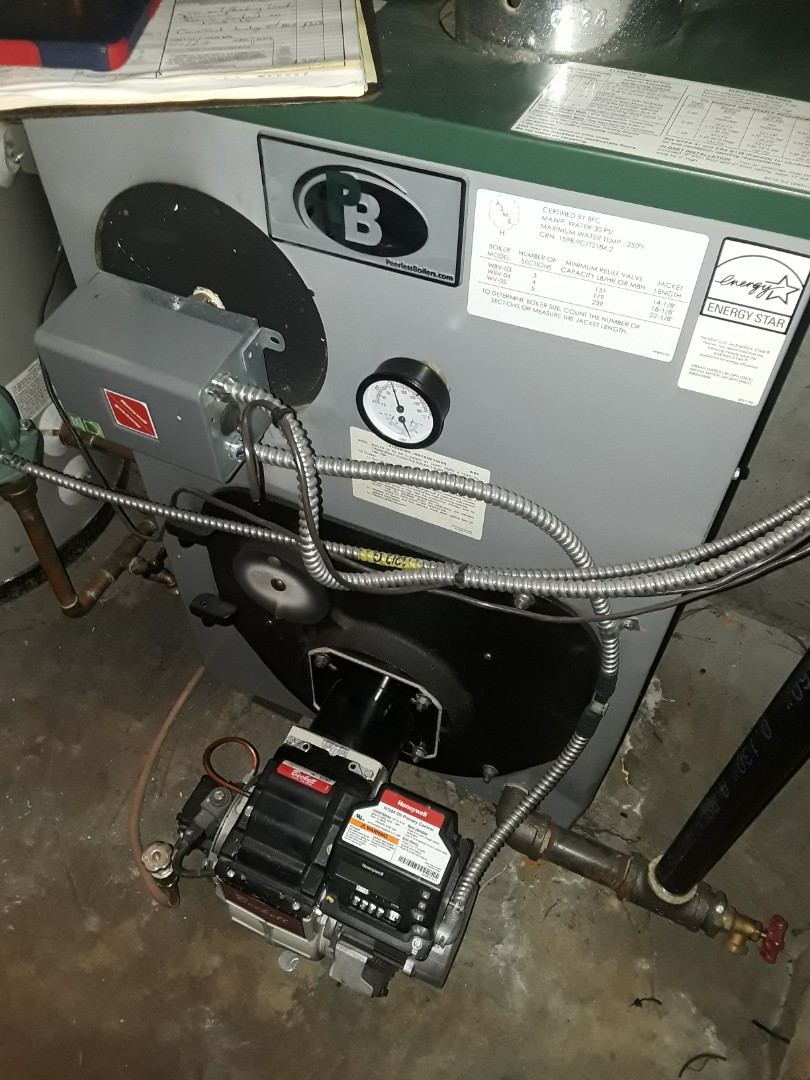Fitchburg, MA - Clean and check Peerless oil boiler