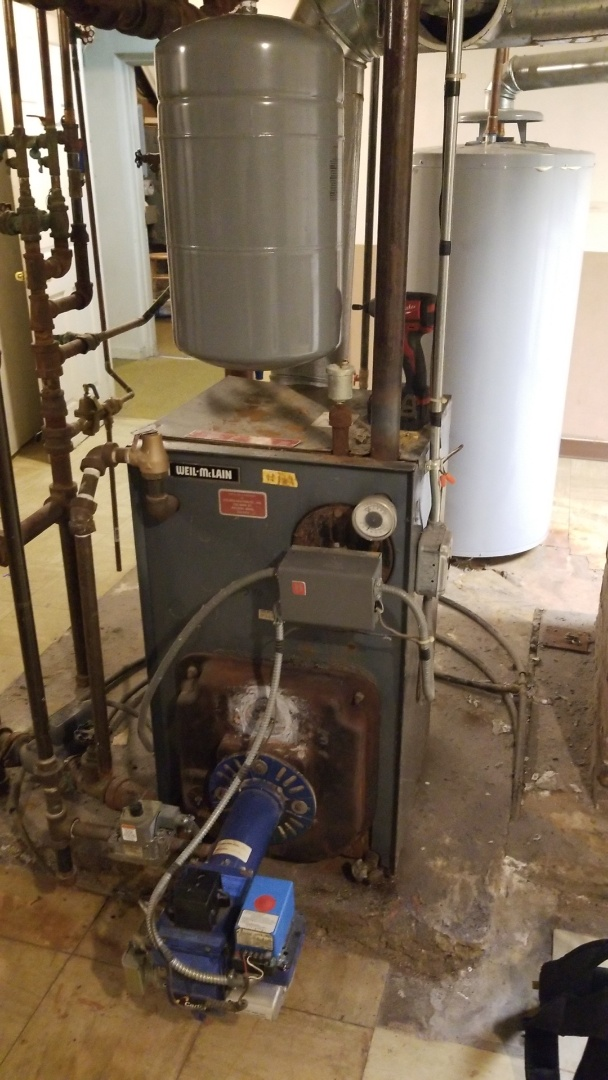 Holden, MA - Clean and service weil mclain gas conversion burner boiler