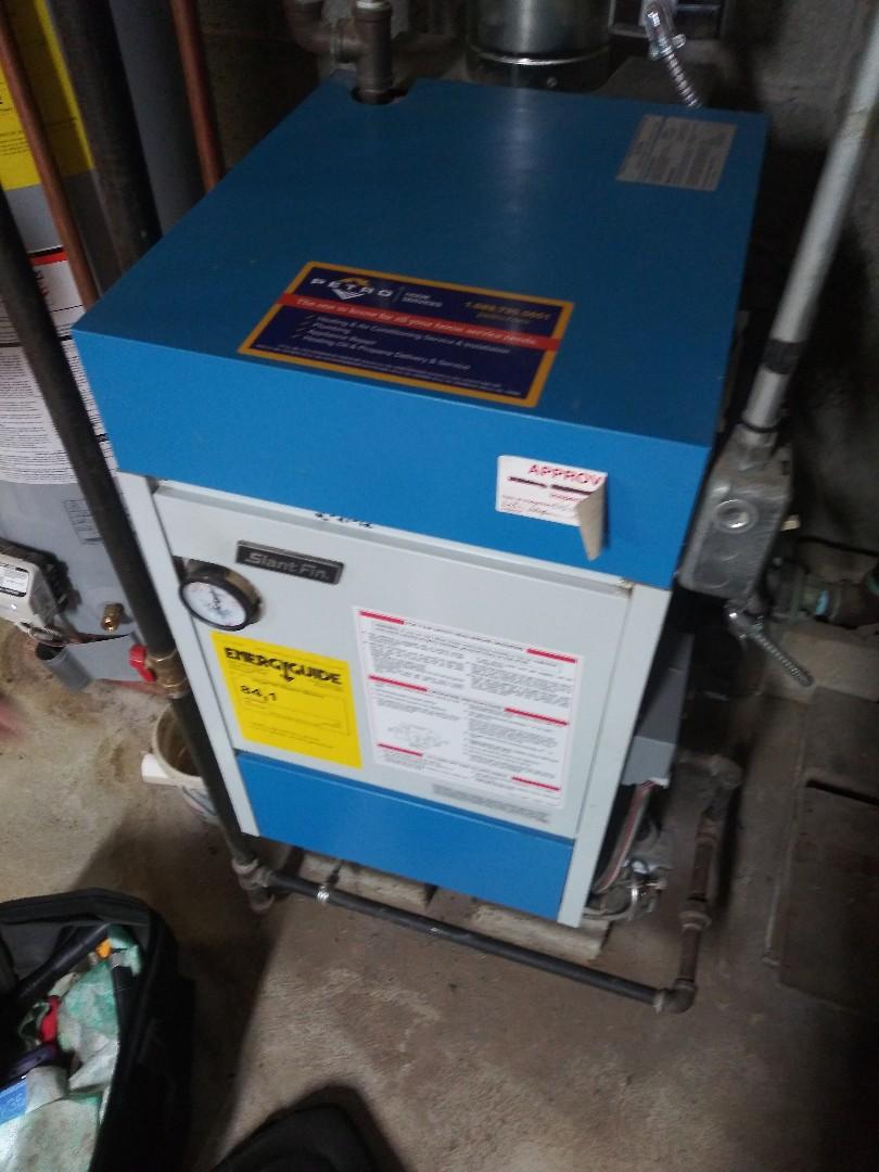 Servicing slant fin boiler
