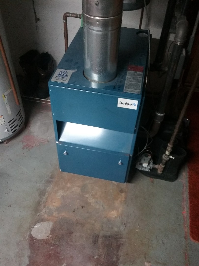Worcester, MA - Service of a dunkirk gas water boiler