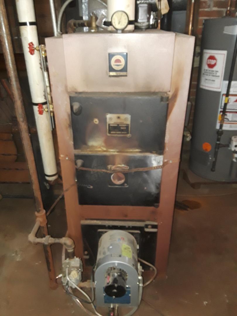 Fitchburg, MA - Heat repair on an American Standard gas boiler