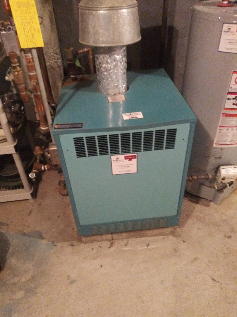 Northborough, MA - Servicing burnham boiler