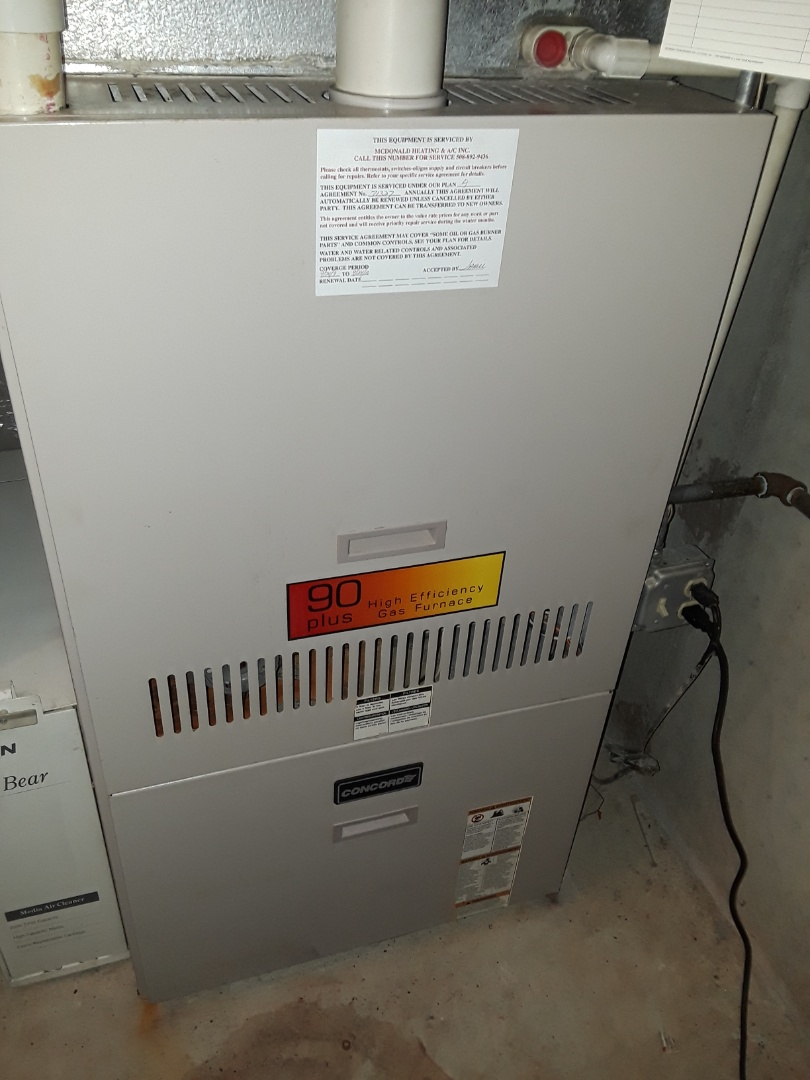 Worcester, MA - Repair on a Concord gas furnace