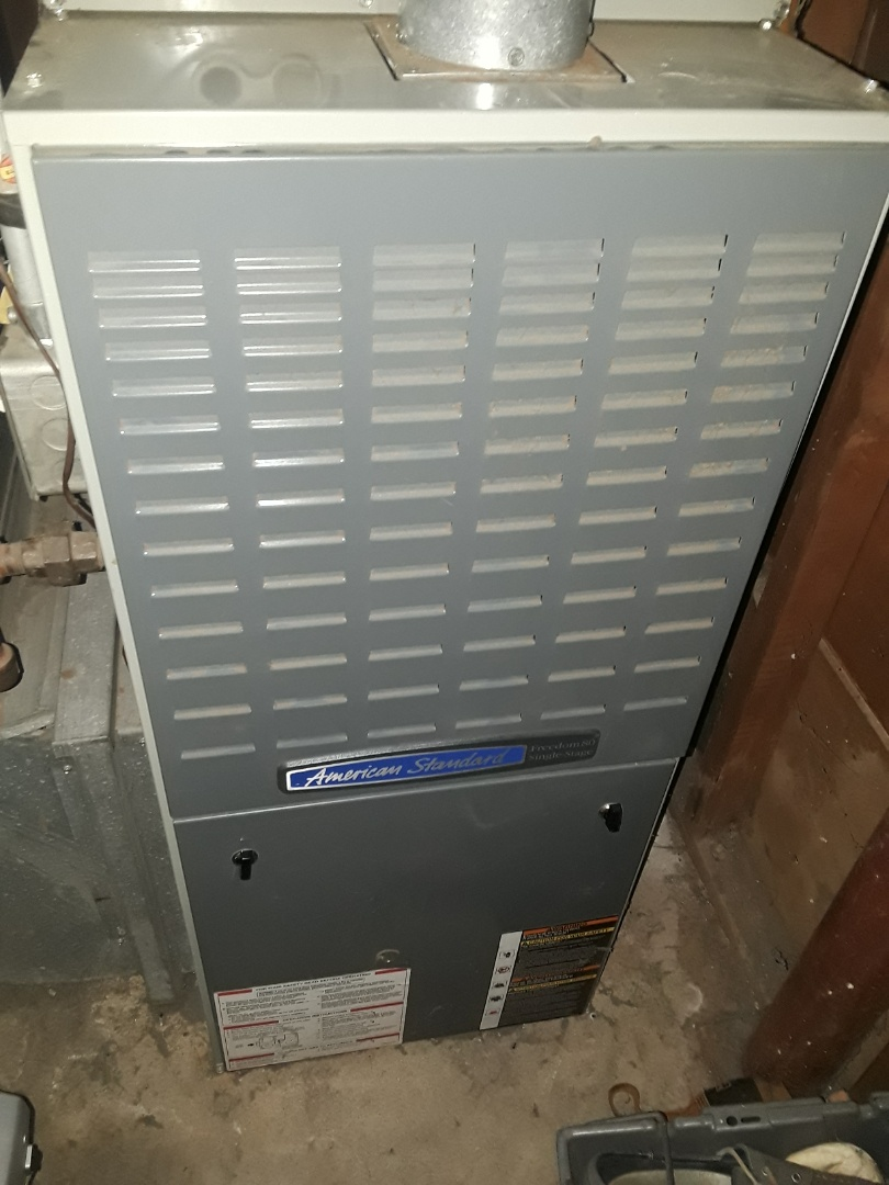 Marlborough, MA - Heat repair on American Standard gas furnace