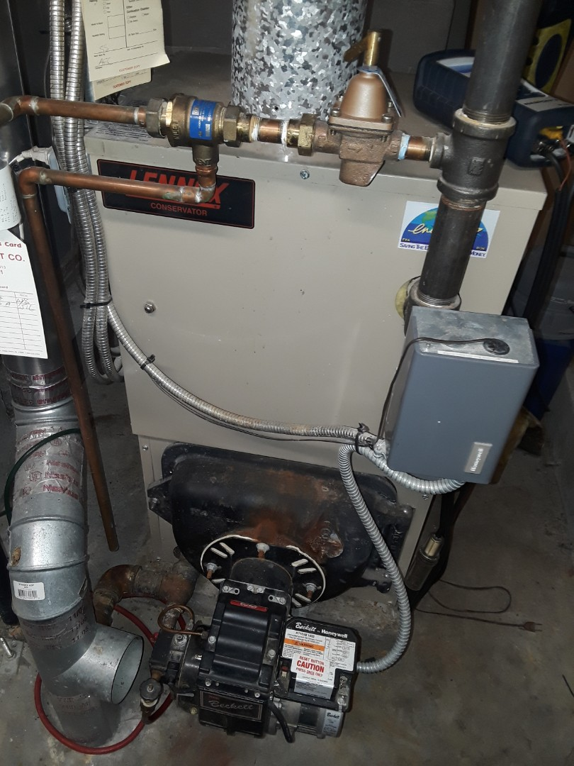 Boylston, MA - Clean and check Lennox oul boiler