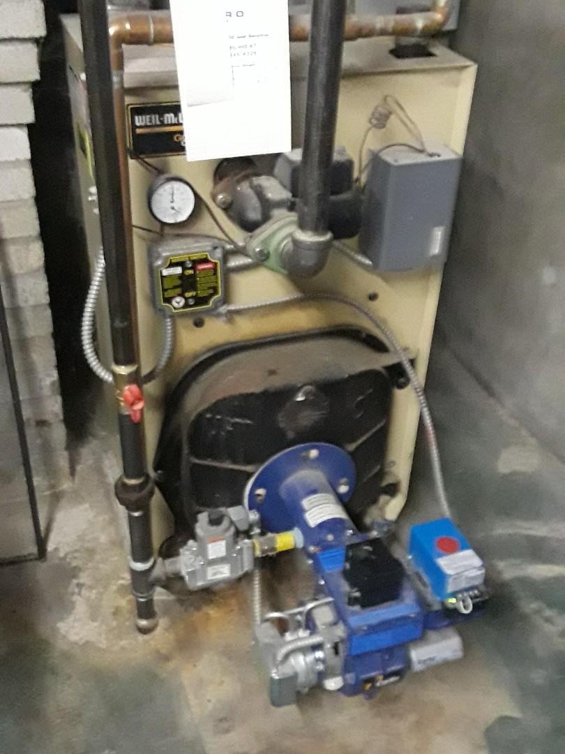 Auburn, MA - Heat repair on a Weil McLain gas boiler