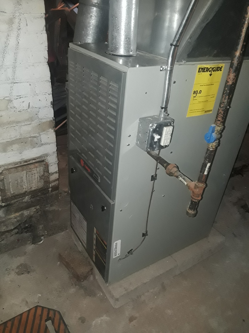 Lunenburg, MA - Clean and check Trane gas furnace