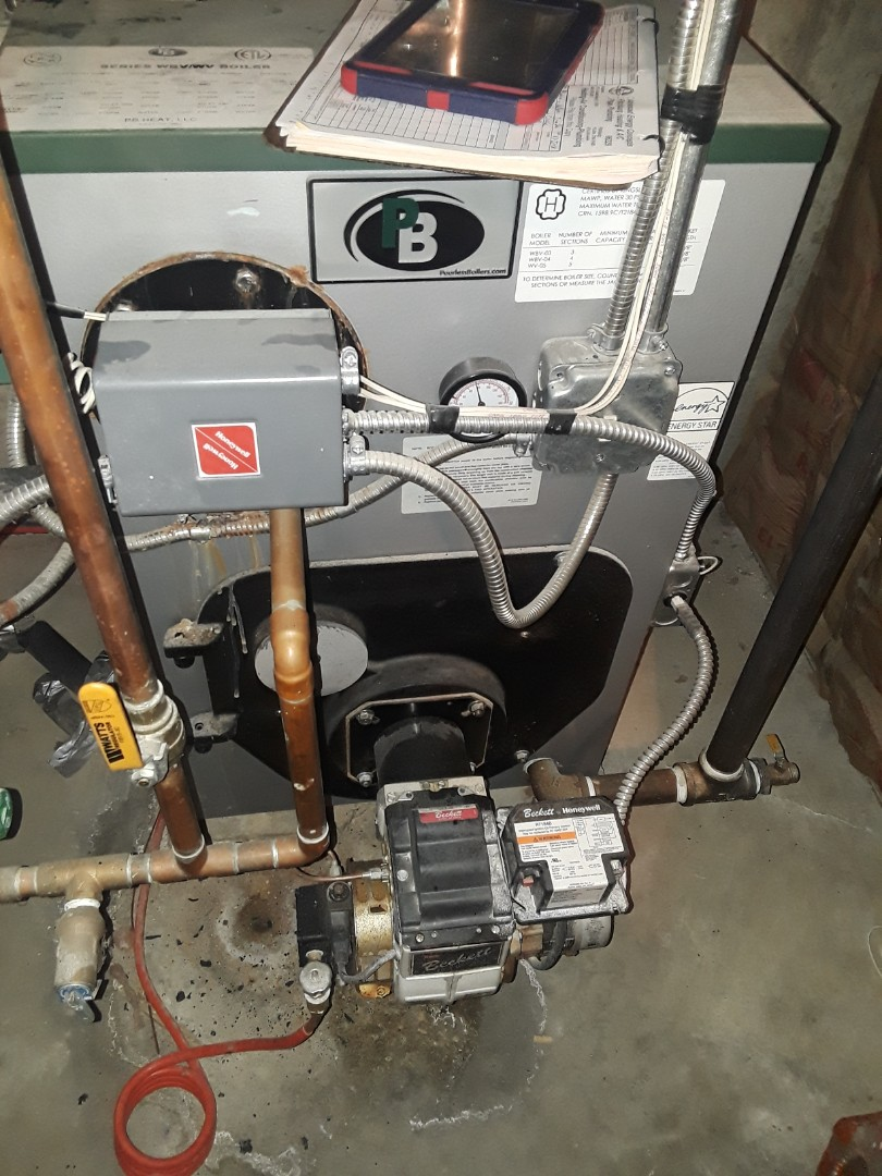 Rutland, MA - Heat repair on a Peerless oil boiler