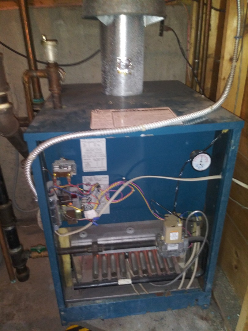 Grafton, MA - Servicing burnham boiler