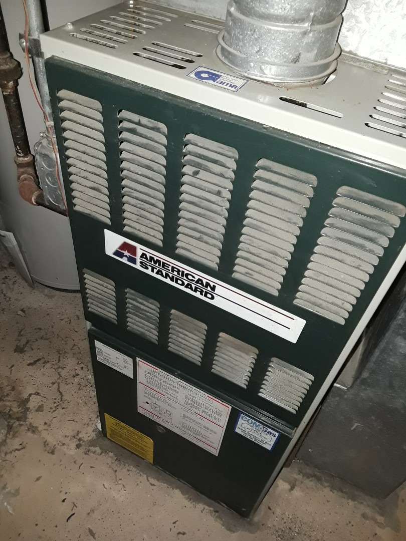 Shrewsbury, MA - Clean and check American Standard gas Furnace