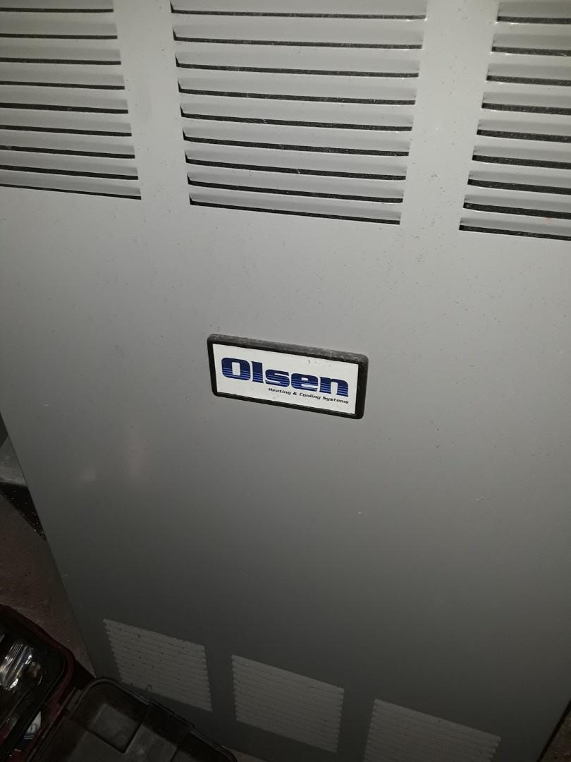 Auburn, MA - Clean and check Olsen oil furnace