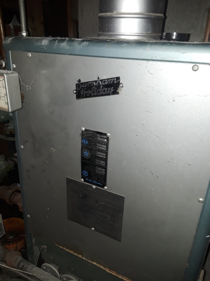 Leominster, MA - Heat repair on a Burnham Holiday gas boiler
