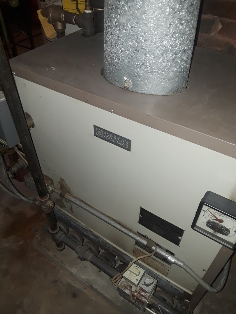 Worcester, MA - Heat repair on American Standard gas boiler