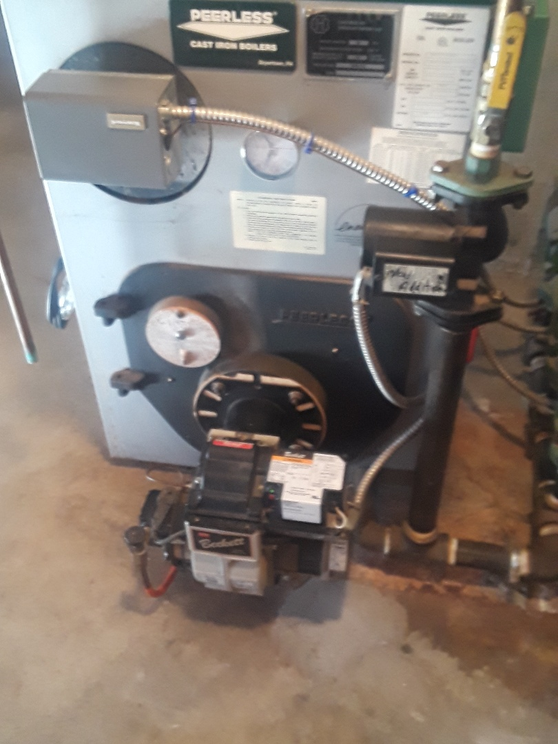 Sterling, MA - Clean and check Peerless oil boiler