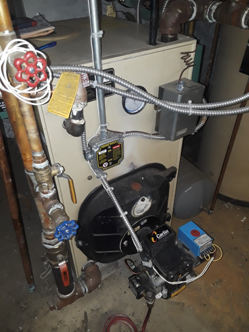 Princeton, MA - Clean and check Weil McLain oil boiler