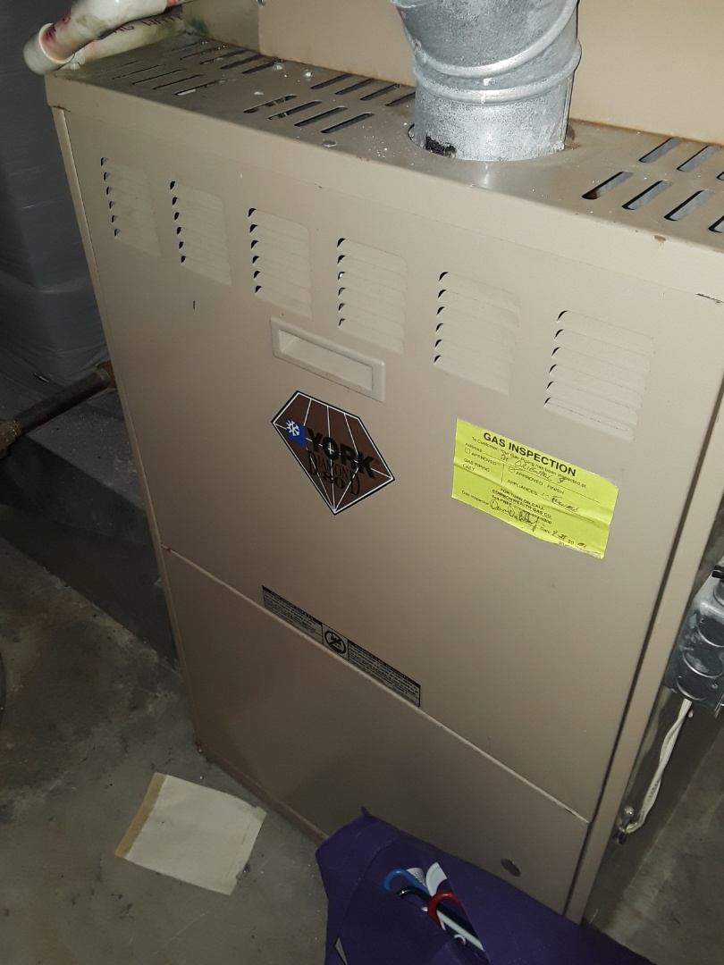 Worcester, MA - Heat repair on a York gas furnace