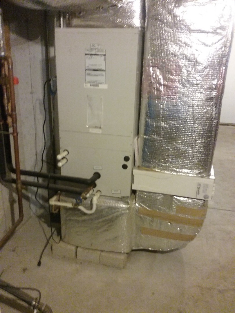 Northbridge, MA -  service of a first company air handler geothermal water coil