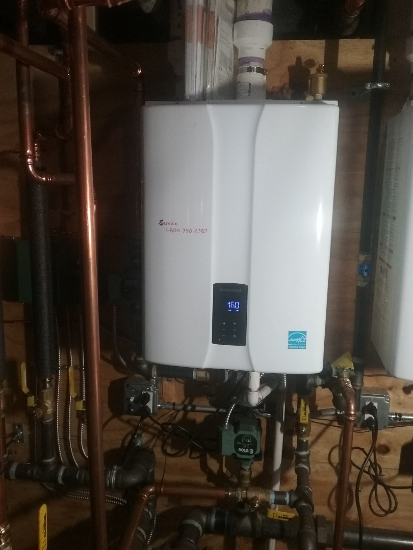 Worcester, MA - Preventive maintenance on a navien gas boiler