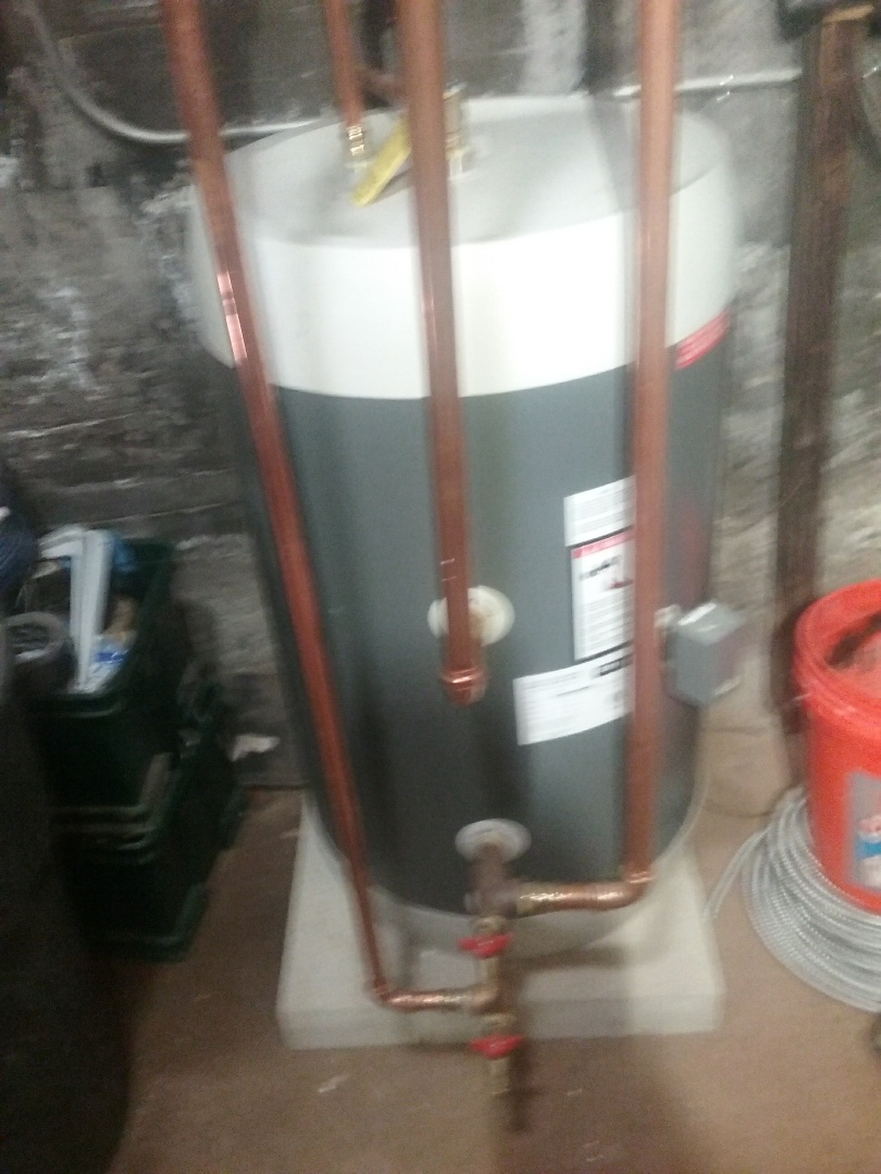 Worcester, MA - Service on a megastore water heater