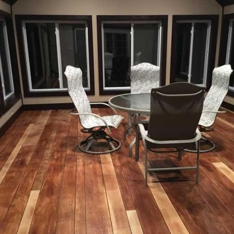 Fayetteville, NC - No concern from moisture or weakness like other wimpy laminate-type wood floor surfaces provide, our cementitious coating is as tough as petrified wood and can permanently transform the look of any epoxy basement floor, epoxy garage floor, patio, porch, showroom or commercial location.